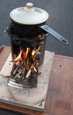 DIY and inexpensive: A fuel-efficient 'rocket stove'. Look forward to trying this. ~ Happy Naturalist