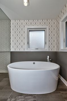 Gorgeous Freestanding Soaker Tub In This Oakville Bathroom Renovation By Urbanest Construction Via HomeStars