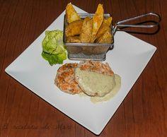 Hamburguesas de salmón con papas deluxe - Mari Rguez