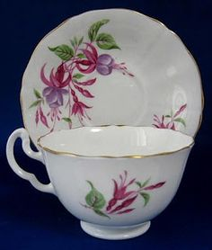 Antiques And Teacups: Teacup Thursday Fuschia Teacup