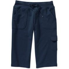 Danskin Now - Maternity French Terry Judo Pants, Blue