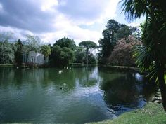English garden of the royal palace in Caserta - Italy