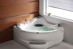 Este hidromasaje (jacuzzi®) es esquinero, ahorra espacio en su baño e integra varios valores agregados como lo son: Sistema de hidroterapia, luz terapéutica, dos almohadas, cascada, tele-ducha y mezclador.