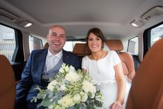 John and Laura travelling to their reception at Claregalway Hotel Wedding Flowers, Wedding Dresses, Travelling, Wedding Venues, Groom, Reception, October, Wedding Photography, Bride