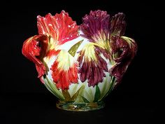 Floral Majolica Jardinière