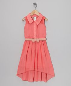 Take a look at this Fuchsia Christal Pleated Dress - Girls by Just Kids on #zulily today!