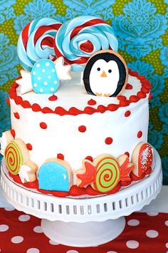 Christmas Candy Wonderland Cake #christmas #cake