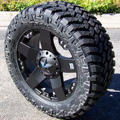 "20"" Black XD Rockstar Wheels 35"" Nitto Trail Grappler Ford F150 Chevy GMC 1500 | eBay"