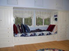 Custom Master Bedroom Window Seat by Michael Weiss Designs   CustomMade.com
