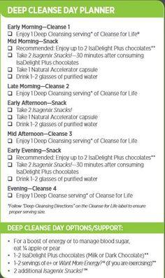 Isagenix 9 Day Cleanse Planner