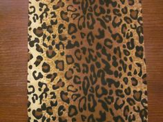 Leopard Print Table Runner Safari Party By DelightfulSewNSew $8.50+