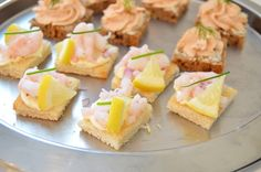 Cocktail bites with shrimp and salmon mousse
