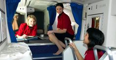 A Glance At The Secret Airplane Cabin Where The Crew Hang Out