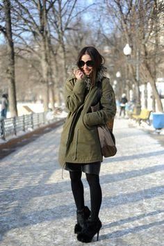 куртка парка с чем носить