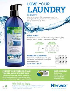 , Check out why Norwex Liquid Laundry Detergent is an incredible solution! , Check out why Norwex Liquid Laundry Detergent is an incredible solution! Best Natural Laundry Detergent, Norwex Laundry Detergent, Washing Detergent, Norwex Cleaning, Cleaning Hacks, Norwex Biz, Green Cleaning, Bathroom Cleaning, Cleaning Supplies