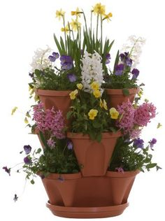 Nancy Janes P1360 12-inch Stacking Planters with Patented Flow through Watering System and Hanging Chain, Terracotta, Set of 3, http://www.amazon.com/dp/B004OTZOZY/ref=cm_sw_r_pi_awdm_V8Vxvb00JHWC5
