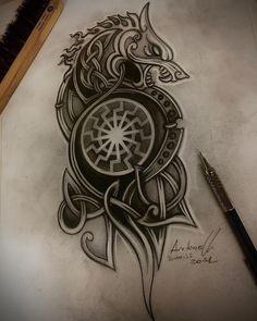 Celtic Tattoo Symbols, Pagan Symbols, Norse Tattoo, Tattoo On, Tatto Viking, Scandinavian Tattoo, Symbole Viking, Joker Poster, Viking Designs