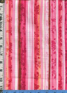 Fabric P&B Blissful Moments Daria Jabenko designer Vertical Stripe Coordinate warm reds coral pink