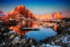 """Arctic sunrise - A beautiful clear morning somewhere in Lofoten ,close to the Hamnoy port .The Sunset and Sunrise are connected in one magnificent show of color and lighPlease     <a href=""""https://www.facebook.com/YiannisPavlis4"""">Visit me on Facebook!</a>.."""