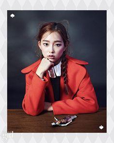 CLC maknae Yeeun in Vogue Girl Korea