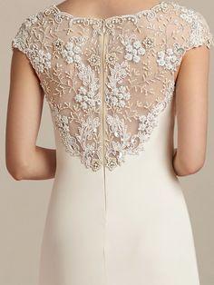 Informal Wedding Dress with Beaded Top Informal Wedding Dresses, Informal Weddings, Elegant Dresses, Vintage Dresses, Casual Dresses, Fashion Dresses, Formal Dresses, Bridal Dresses, Bridesmaid Dresses
