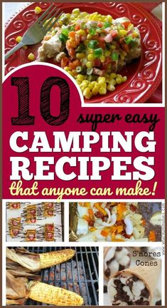 Cooking over the campfire is easy if you plan ahead! These are 10 easy campfire food ideas practically anyone can make - including foil packet dinners, potato + smores recipes for the fire, make ahead dessert bars (could also be breakfast) & dinner ideas. Best Camping Meals, Camping Cooking, Camping Foods, Camping Stuff, Camping Ideas, Camping Hacks, Beach Camping, Camping Activities, Family Camping