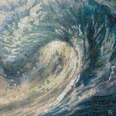 Mia Tavonatti, Light Wave, 2015 mosaico vitreo