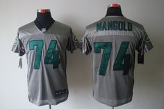 New York Jets #74 Nick Mangold shadow Elite Nike NFL Jersey in grey    ID:26449753  $24