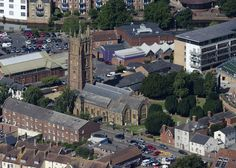 Church of St James in Taunton - aerial image by John Fielding #taunton #somerset #church #aerial