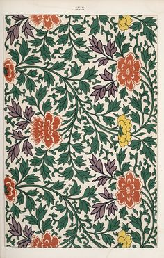 Examples of Chinese ornament, selected from objects in the South Kensington Museum and other collections : [estampe] / by Owen Jones Auteur : Jones, Owen Dessinateur du modèle Chinese Prints, Chinese Art, Chinese China, Chinese Style, Chinoiserie, Textile Patterns, Textiles, Flower Patterns, Chinese Ornament