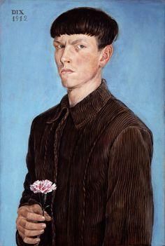 Self-portrait, 1916 // by Otto Dix