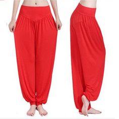 Yoga Pants Women Plus Size Colorful Bloomers Dance Yoga TaiChi Full Length  Pants Smooth No Shrink · Pantalon ... 72554003eabd