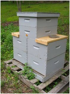 Tower Hives for Varroa Control #beekeepingideas