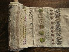 Love her daily scratchings in embroidery/stitches...often detailing events of the day.  Tanglewood Threads: Scratching Around