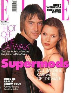 Paul Weller Kate Moss Elle UK Supermods cover February 1997