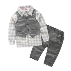 >> Click to Buy << (3pcs/set) baby boy clothes newborn gentleman baby clothing shirt+vest+pants baby boy clothing set #Affiliate