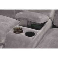 Big Softie 6-Piece Power Reclining Sectional with Chaise and 2 Reclining Seats | Value City Furniture Reclining Sectional With Chaise, Modular Sectional Sofa, Fabric Sectional, Armless Chair, Value City Furniture, Power Recliners, Living Room Seating, Softies, Vintage Furniture