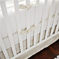 Pebble Moon Baby Crib Bedding... neutral does't have to be green or yellow!