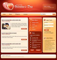 Valentine Joomla Templates by Modlin