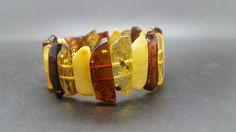 22,5 grams Genuine Natural Baltic Amber Mix Bracelet No Enhancement