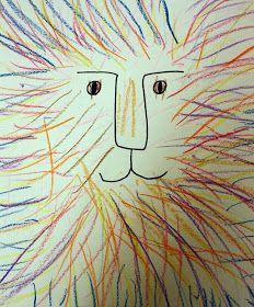 Pre-K lions. Art for Preschool Kindergarten Names, Kindergarten Art Projects, Kindergarten Drawing, Drawing For Kids, Painting For Kids, Art For Kids, Lion Drawing, Drawing Art, Tattoo Sketch