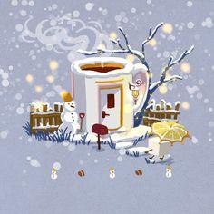 Cute Kawaii Drawings, Love Drawings, Kawaii Art, Christmas Drawing, Christmas Art, Kawaii Illustration, Kawaii Wallpaper, Christmas Illustration, Christmas Aesthetic