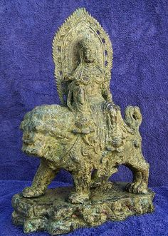 Ming Quanyin riding the Dog of Foo 9Foo dog by RYeakelCollection, $3400.00