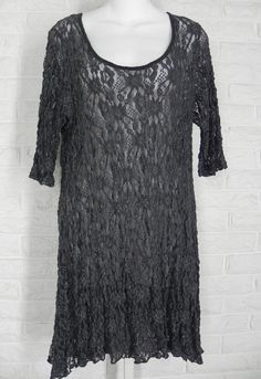 SURREALIST USA Tunic Shirt Layering Floral Lace Black Grey New Sz 1 Small #SurrealistUSA #Tunic #Casual