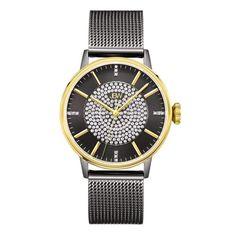 JBW Women's J6339D Belle 0.12 ctw Black Ion-Plated Stainless Steel Diamond Watch