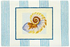 Nautilus Shell Striped Small Accent Rug - super cute!