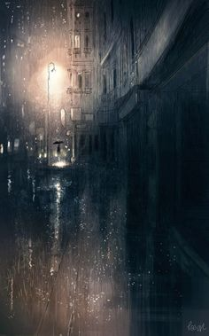 Pascal Campion — Irma I am fascinated and terrified at the same. Christophe Jacrot, Pascal Campion, Stormy Night, City Art, Urban Landscape, Dark Art, Oeuvre D'art, Painting & Drawing, Amazing Art