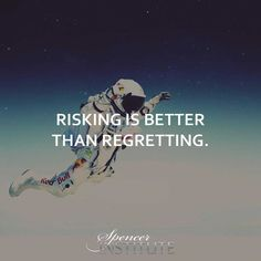 Risking is better than regretting. A 'what if' life is like taking a vacation from reality where the only activity you engage in is that of dreaming or wishing. Neither of these activities will lead to absolutely nowhere. #lifecoachtraining #Fitnesscareer #fitnessprogress #fitnessprofessional #fitnessprofessionals #lifecoaching #lifecoachingschool #fitnesseducation