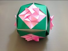 Daily Origami: 815 - Cube Decoration Flower 02