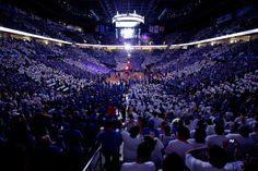 Inside Chesapeake Energy Arena at an Oklahoma City Thunder game